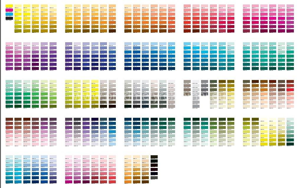 Gama de culori Pantone