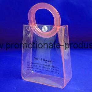 Pungi plastic personalizate cu maner