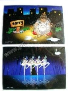 carti postale lenticulare